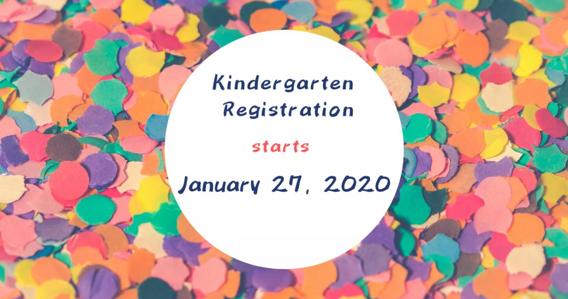 Kindergarten Registration - 2020