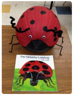 Grouch Ladybug pumpkin