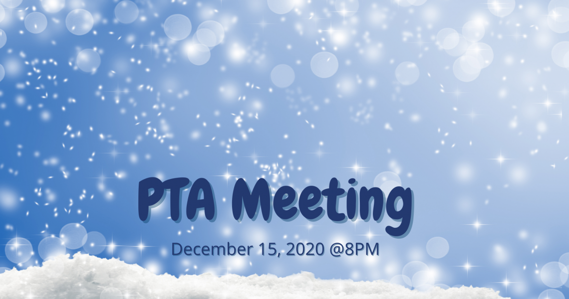 PTA Meeting - December 2020