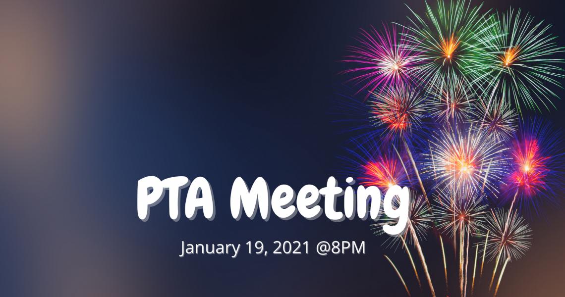 PTA Meeting - January 2021