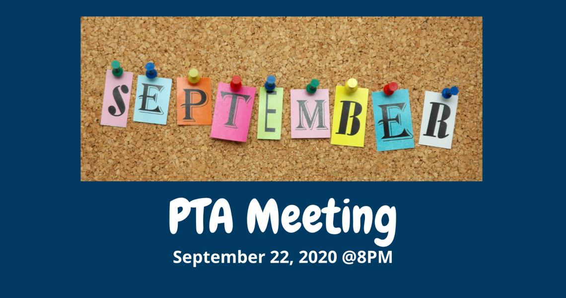 PTA Meeting - September 2020
